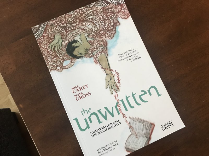 Picture of the comic, The Unwritten.