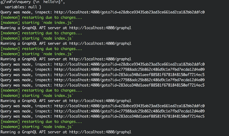 The code above running in my terminal showing how I get clickable links.