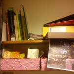 Tea & books accompanied by a photo for inspiration.