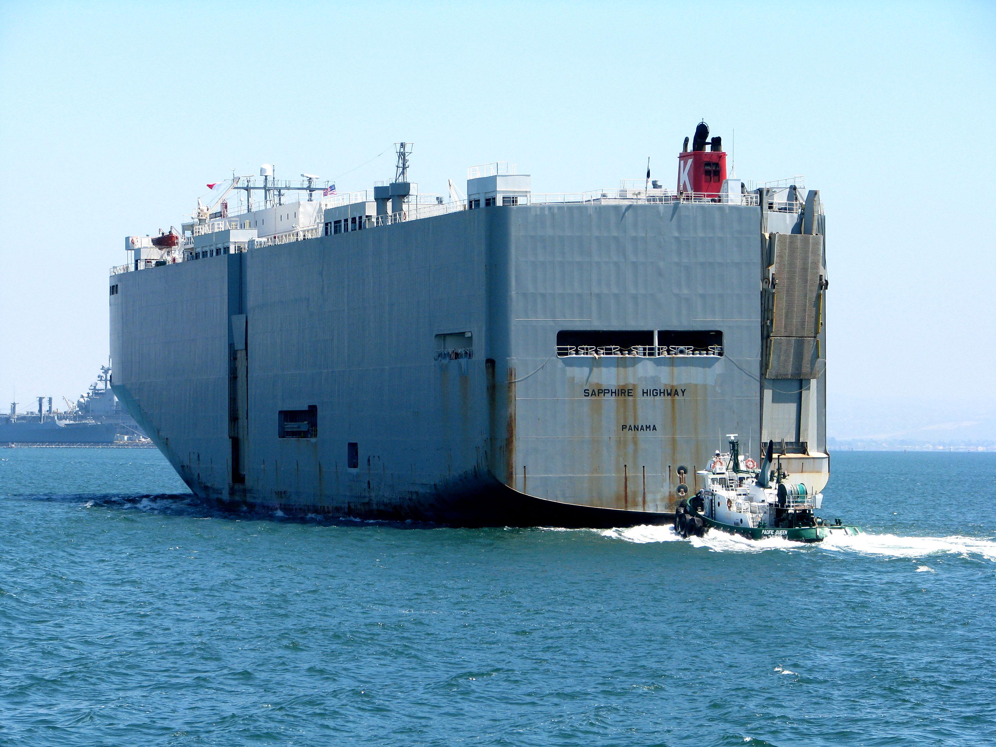 A huge ship